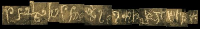 the first image - a string of the symbols found in the cave
